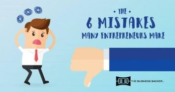 6 Common Mistakes Entrepreneurs Will Make