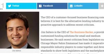 Business Backer CEO Advises Alt-fi Industry Should Address Critics Directly