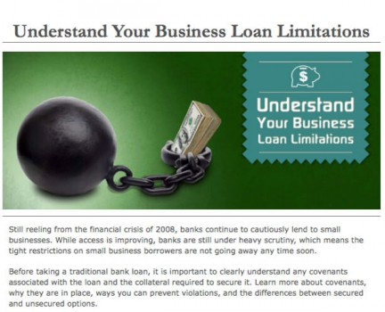 Understand Your Business Loan Limitations