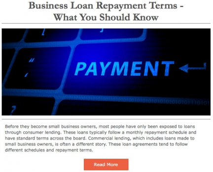 Business Loan Repayment Terms - What You Should Know